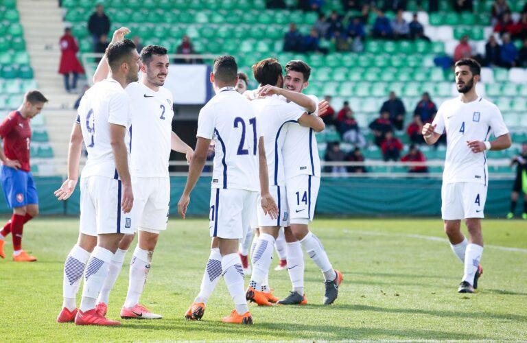 Άνετα η Εθνική ελπίδων, 3-0 την Τσεχία