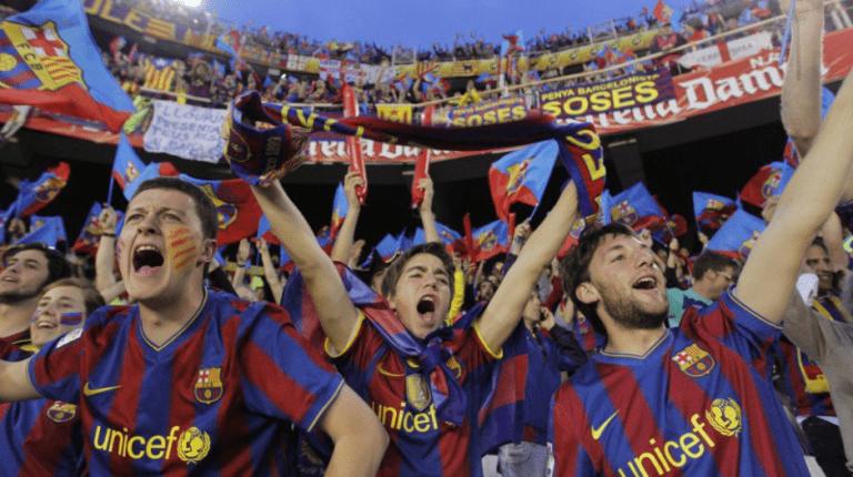 Αποδοκιμασίες στον εθνικό ύμνο της Ισπανίας από τους οπαδούς της Μπαρτσελόνα (vid)