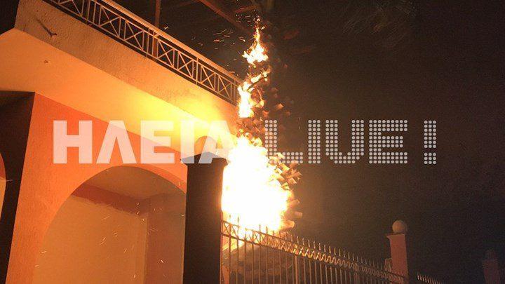 Ο «πύρινος εφιάλτης» επέστρεψε στην Ηλεία – Καίγονται σπίτια… (vid)
