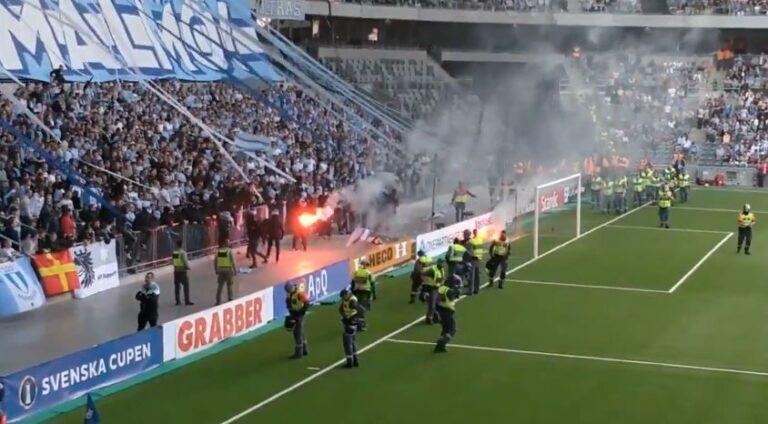 Εισβολή οπαδών και διακοπή στον τελικό Κυπέλλου της Σουηδίας (vid)