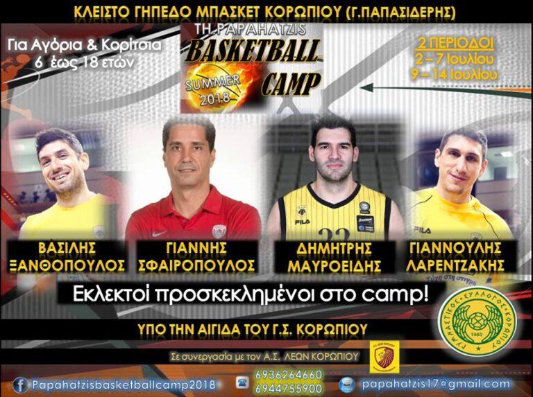 Με υψηλούς προσκεκλημένους το «TH. PAPAHATZIS BASKETBALL CAMP»!