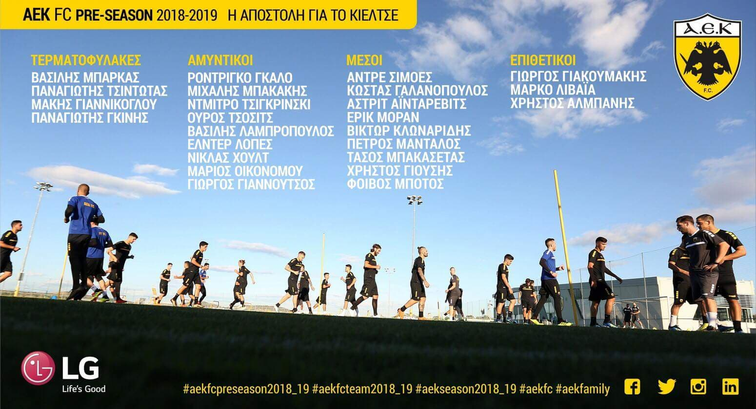Η 25αδα της ΑΕΚ για το Κίελτσε - Sportime.GR