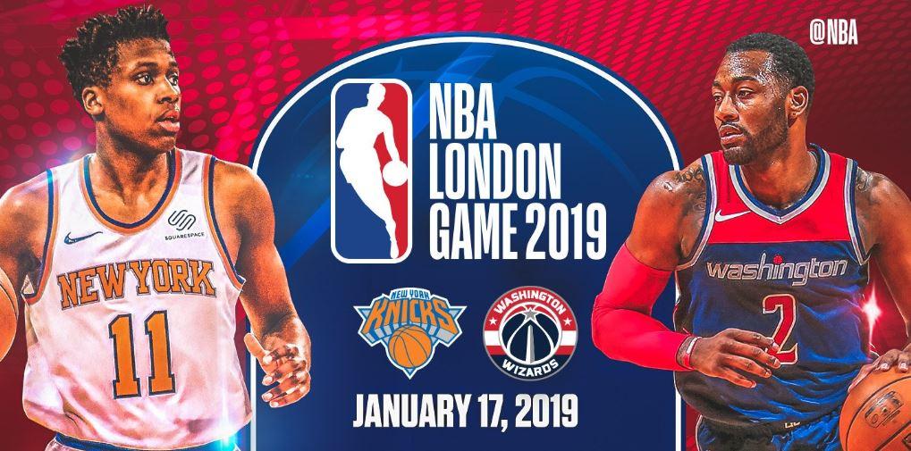 Ουίζαρντς-Νικς το NBA London Game του 2019