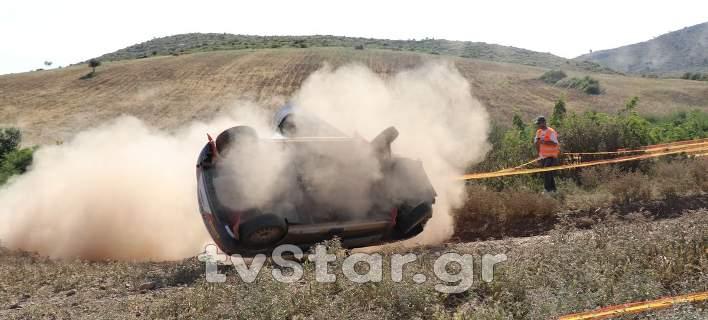 Αυτό είναι το ατύχημα της ειδικής διαδρομής του ΕΚΟ Ράλλυ Ακρόπολις (vid)