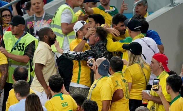 Έπεσε ξύλο μεταξύ Σέρβων και Βραζιλιάνων! (vid)