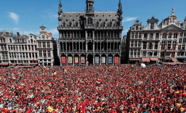 Υποδοχή ηρώων στην Εθνική Βελγίου! (vids)