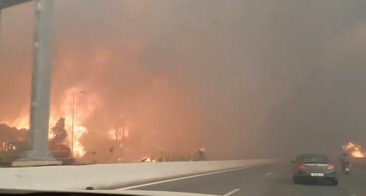 Φωτιά στην Κινέτα: Συγκλονιστικό βίντεο από την Εθνική! Δυσοίωνη πρόβλεψη για τον καιρό