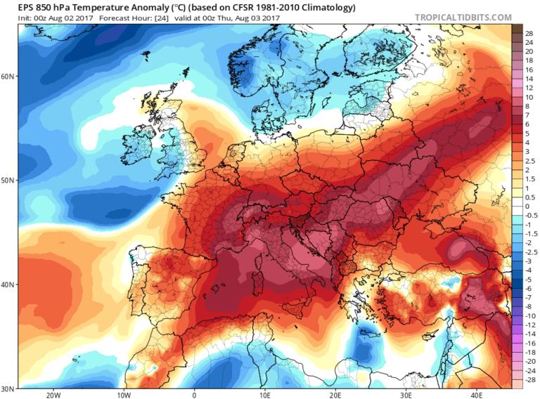 Σφοδρό κύμα καύσωνα «σφυροκοπάει» την Ευρώπη