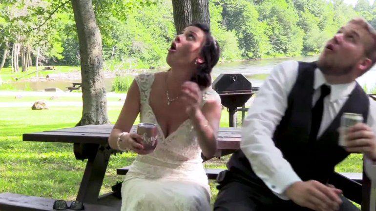 Δέντρο πήγε να πλακώσει τη νύφη και τον γαμπρό μετά το γάμο