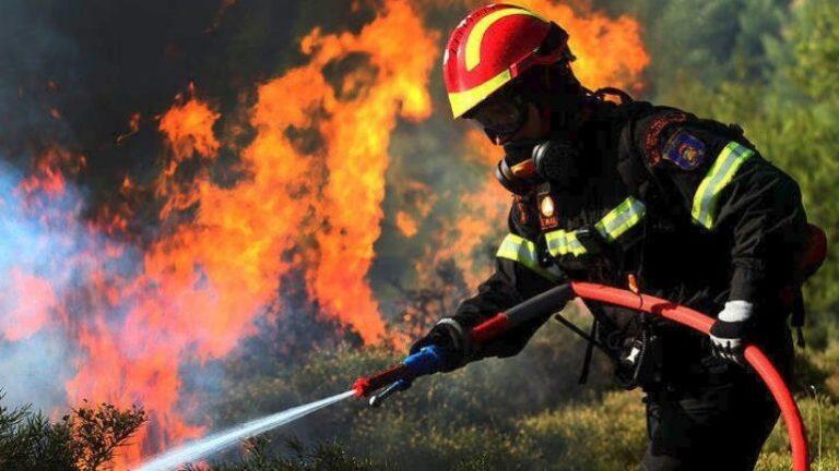 Στις φλόγες τα Γεράνεια όρη (vids)