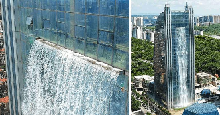 Ο καταρράκτης ενός…ουρανοξύστη (pics)