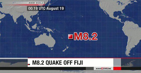 Σεισμός 8.2 Ρίχτερ στις νήσους Φίτζι