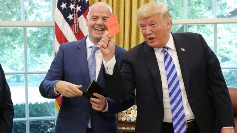 Ο Ινφαντίνο, ο Τραμπ και η κόκκινη κάρτα (vid)