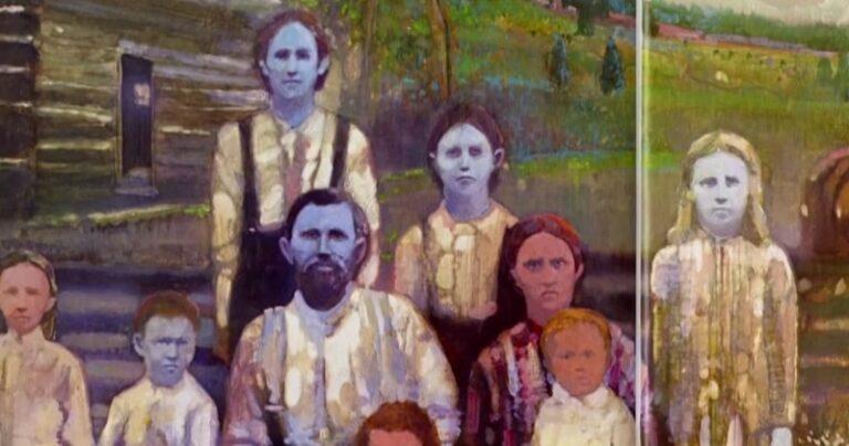 Η οικογένεια με το μπλε δέρμα (pic)