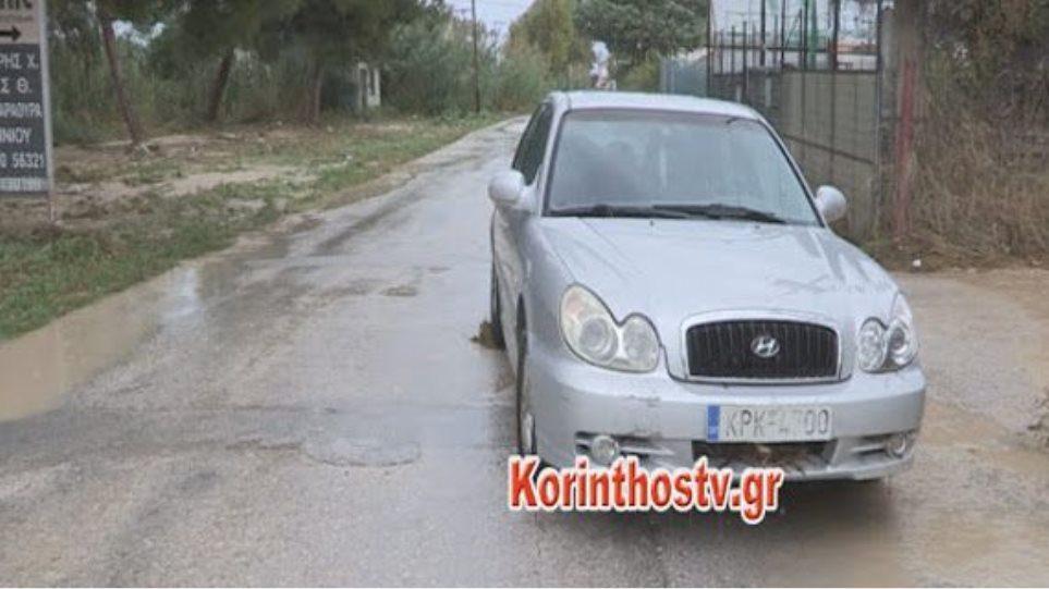 Νεκρός οδηγός στο Βραχάτι, υπέστη έμφραγμα την ώρα της κακοκαιρίας (vid)
