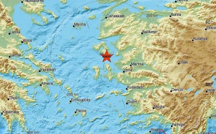 Σεισμική δόνηση στη Μυτιλήνη