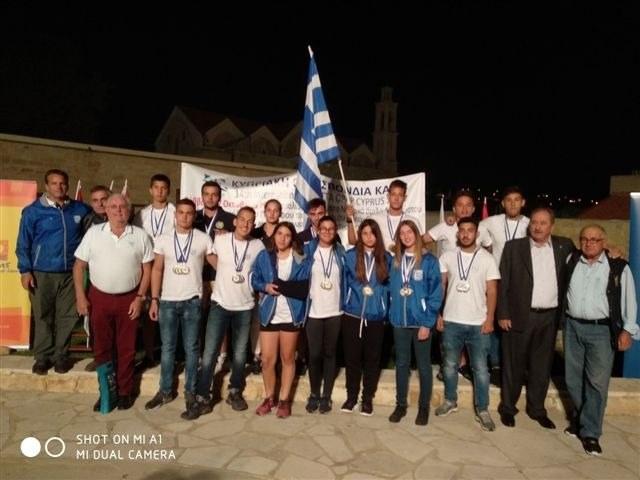 Δεκαεννέα μετάλλια το κανόε καγιάκ στην Κύπρο