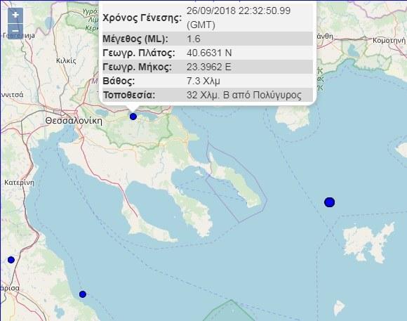 Ισχυρός σεισμός στην Θεσσαλονίκη