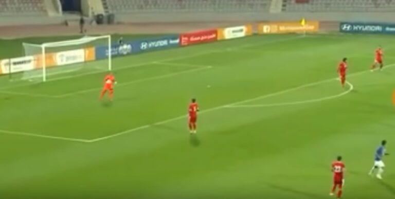 Ιορδανία-Ινδία: Φοβερό γκολ από τον τερματοφύλακα!