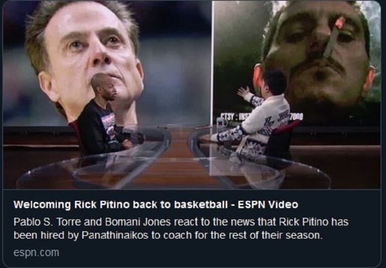 Παναθηναϊκός: Το ESPN για την πρόσληψή του Ρικ Πιτίνο και τον Δ.Γιαννακόπουλο (vid)