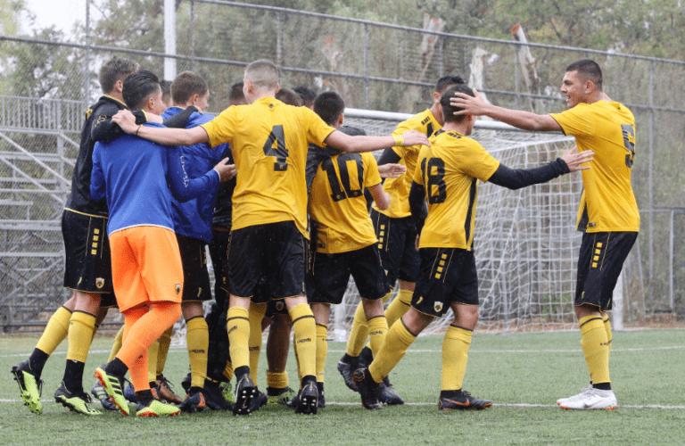 """ΑΕΚ Κ17: Ανατροπή και """"τεσσάρα"""" με Λεβαδειακό (4-1)"""