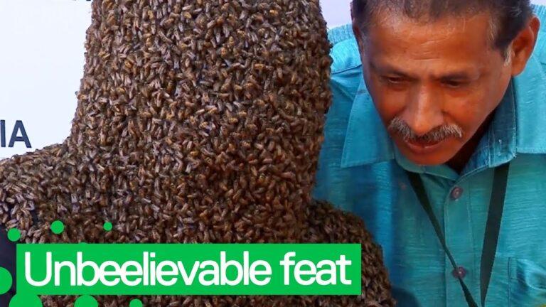 Ο άνθρωπος μέλισσα – «Φόρεσε» 60.000 μέλισσες και έσπασε το ρεκόρ (vid)