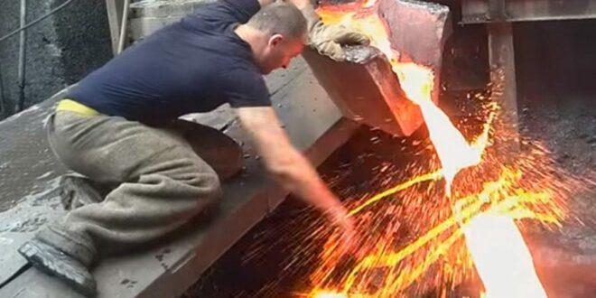 Έβαλε το χέρι του σε πυρωμένο υγρό μέταλλο για ένα στοίχημα