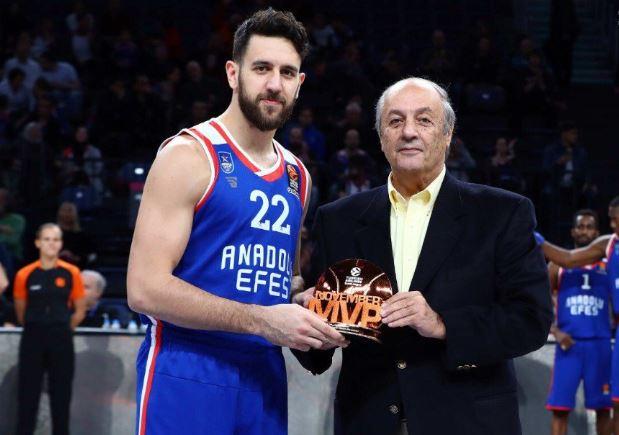Euroleague: Ο Μίτσιτς παρέλαβε το βραβείο του MVP Νοεμβρίου (vid)