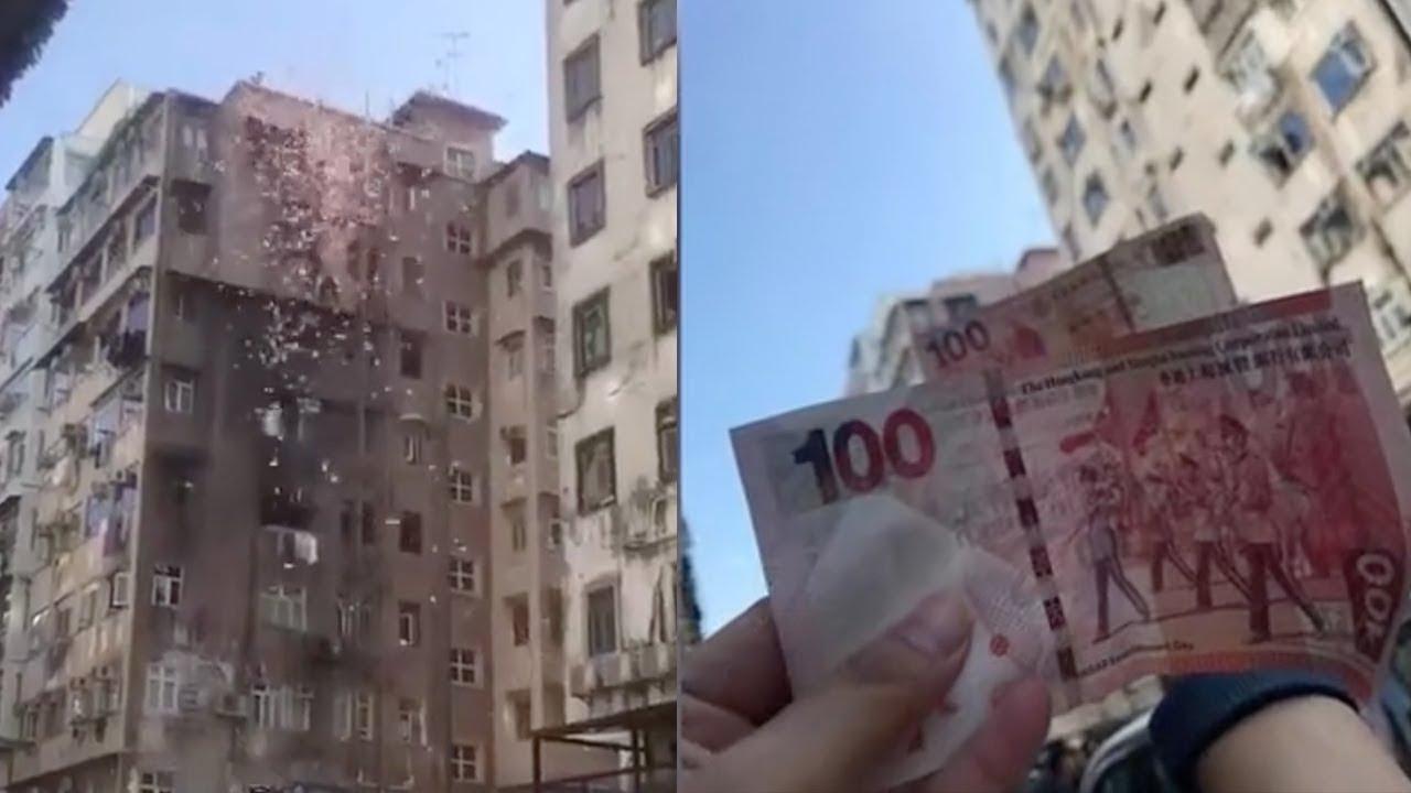 Συνέλαβαν 24χρονο εκατομμυριούχο γιατί μοίραζε λεφτά…από το μπαλκόνι (vid)