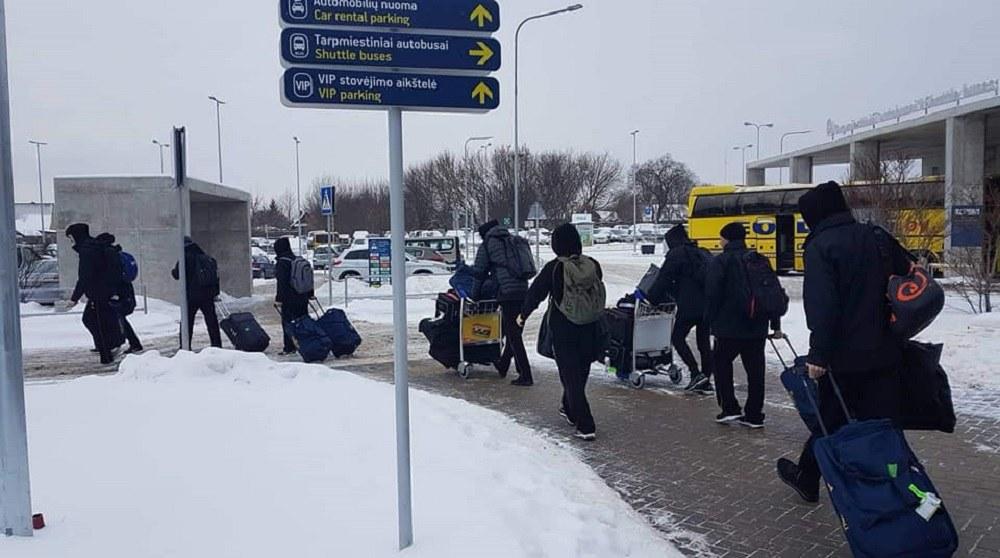 AEK: Συνάντησε χιόνι και δημοσιογράφους στη Λιθουανία(pics)