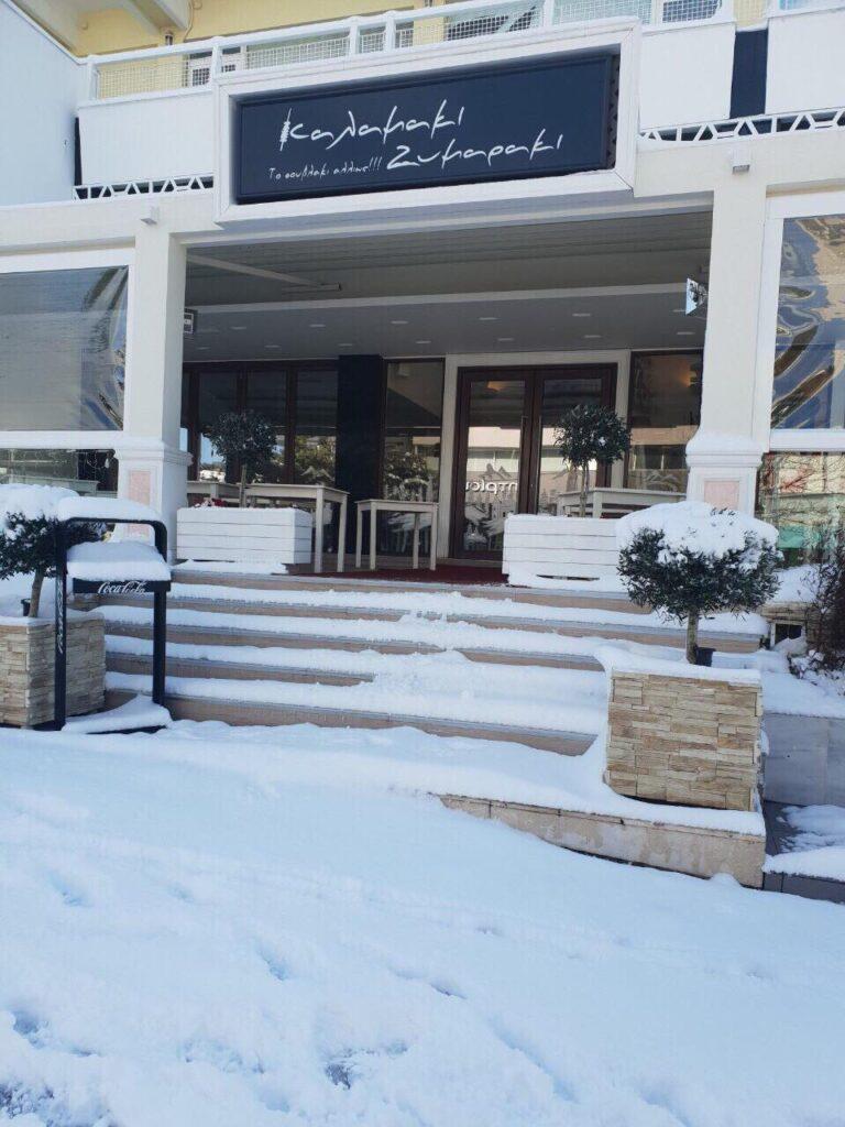 Μέσα στα χιόνια το Καλαμάκι Ζυμαράκι στη Κηφισιά!(pics)