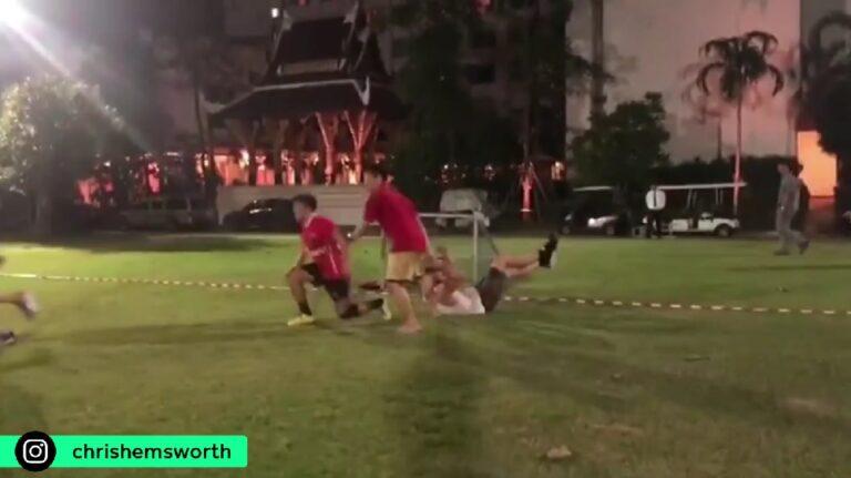 O… Thor παίζει ποδόσφαιρο και δεν το έχει (video)