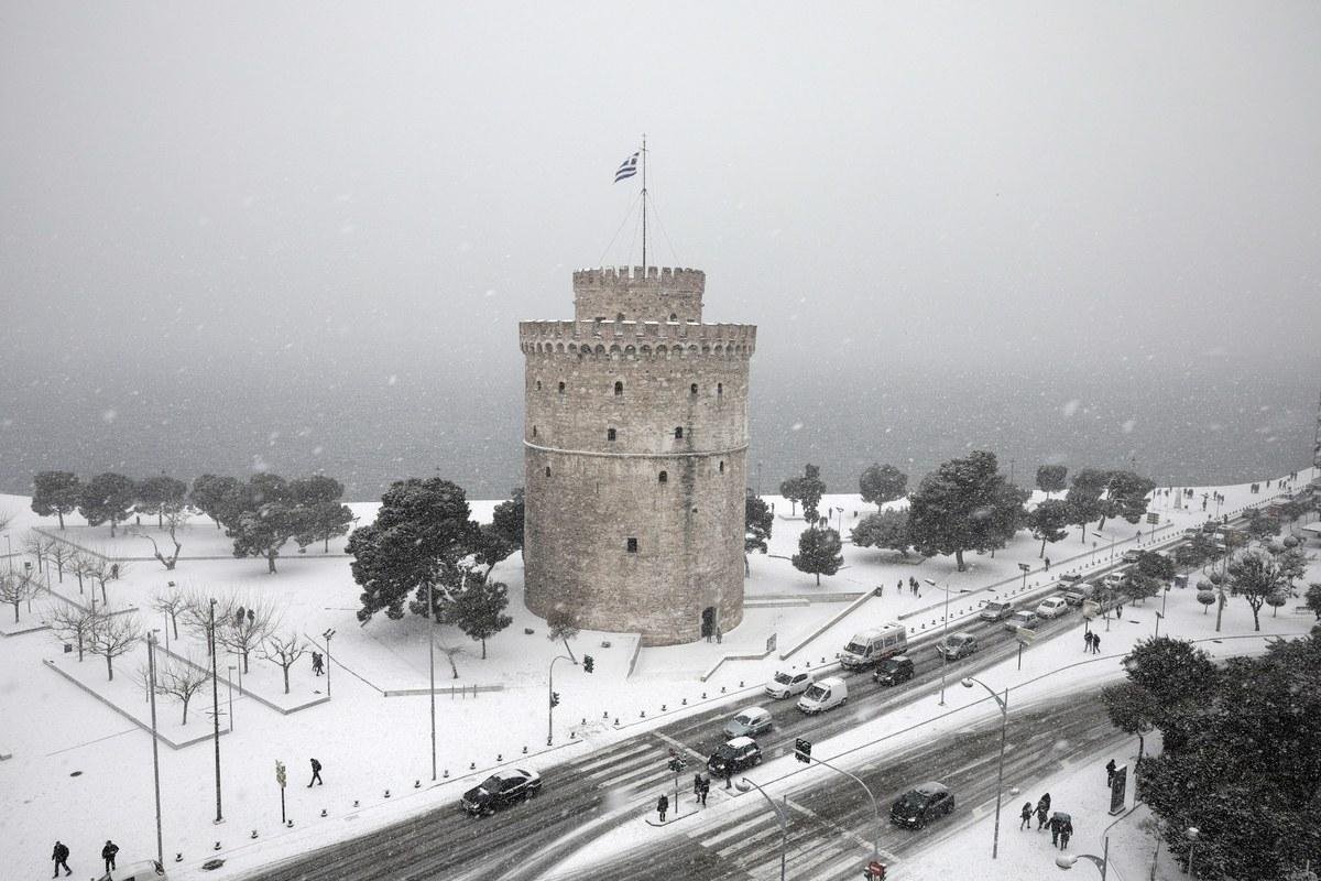 Κλειστό επαρχιακό οδικό δίκτυο στη Θεσσαλονίκη λόγω παγετού