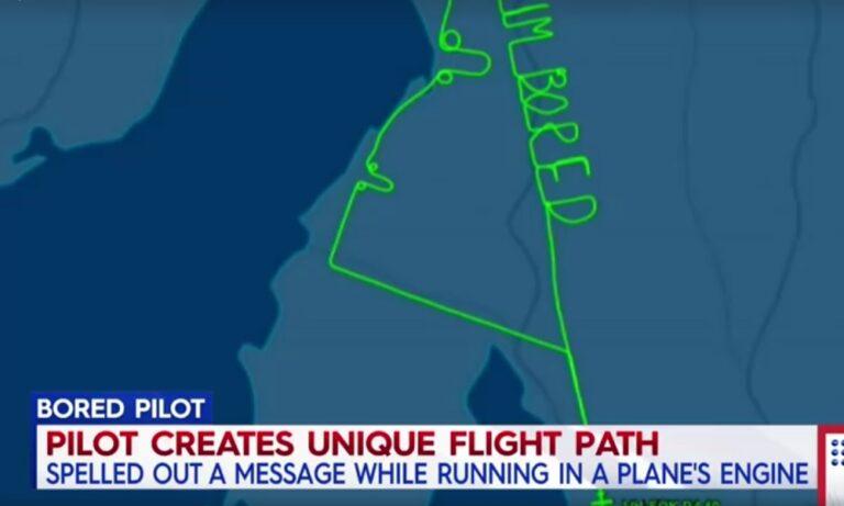 Θεούλης: Αυστραλός πιλότος σχημάτισε στον αέρα το «βαριέμαι» (vid)