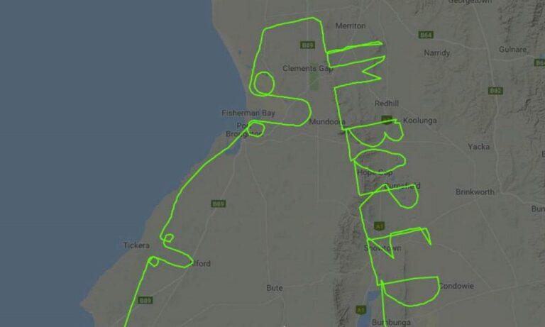 Πιλότος σχημάτισε τη λέξη…«ΒΑΡΙΕΜΑΙ» εν ώρα πτήσης (vid)