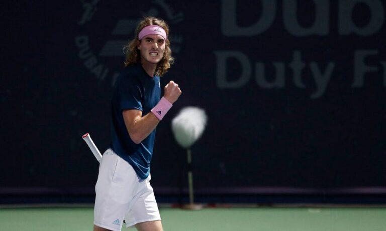 Τσιτσιπάς: Στα ημιτελικά στο Ντουμπάι, μια νίκη από το Top10 (vids)