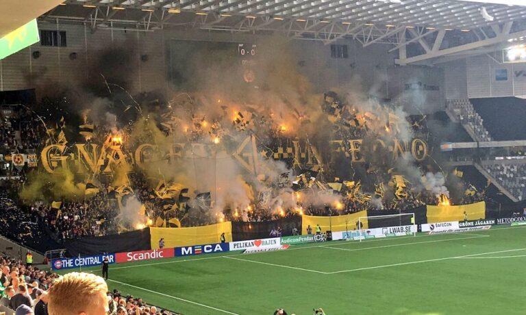 Σουηδία: Unfair γκολ με καπνογόνα! (vid)