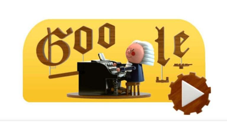 Google Doodle: Αφιερωμένο στον Γιόχαν Σεμπάστιαν Μπαχ