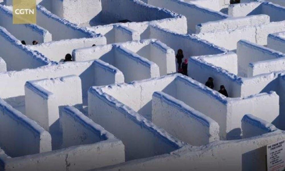 Έφτιαξαν τον μεγαλύτερο λαβύρινθο από χιόνι και μπήκαν στο βιβλίο Γκίνες
