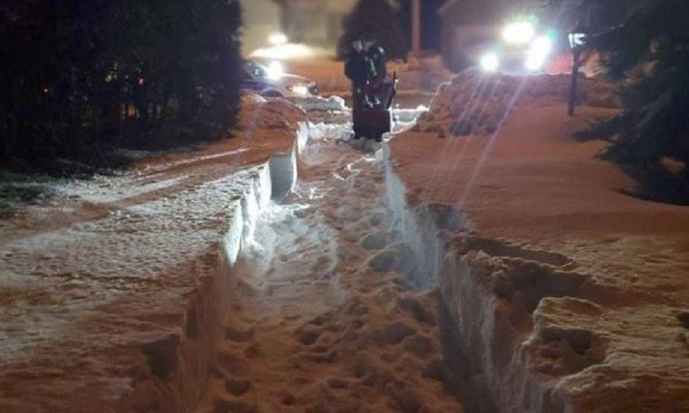 Οτάβα: Ο άνθρωπος που πέρασε όλο το χειμώνα… Μέσα στο χιόνι(vid)