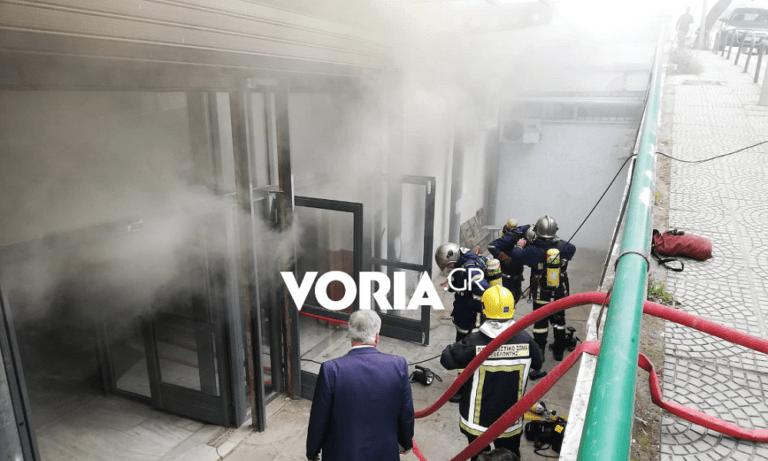 ΑΠΘ: Φωτιά σε υπόγειο – Στο νοσοκομείο μία φοιτήτρια (vid)