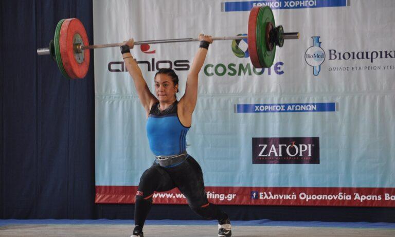 Άρση βαρών: Δύο πανελλήνια ρεκόρ η Καρδαρά