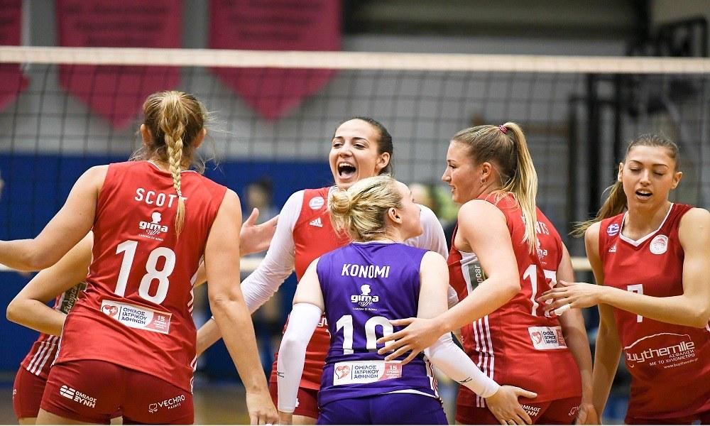 Θέτις – Ολυμπιακός 0-3: Στους τελικούς για το 7ο σερί νταμπλ