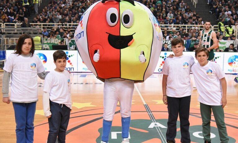 Κερkida ΟΠΑΠ: Τα παιδιά κατέβηκαν στο παρκέ και έπαιξαν μπάσκετ στο κατάμεστο ΟΑΚΑ
