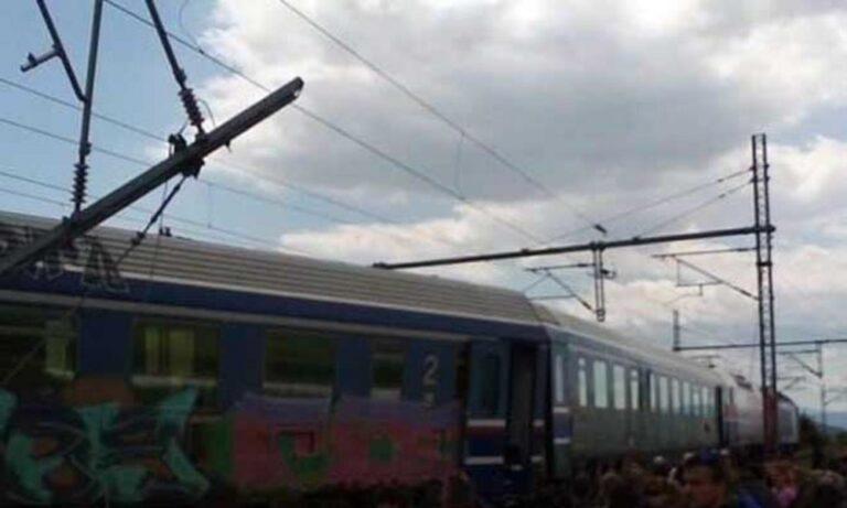 Εκτροχιασμός τρένου στο Παλαιοφάρσαλο (vid)