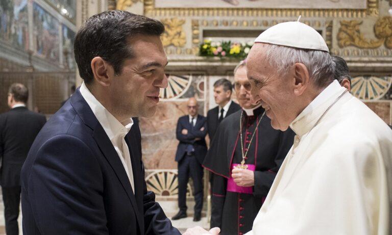 Πάπας για Τσίπρα: «Αξίζει το βραβείο Νόμπελ»