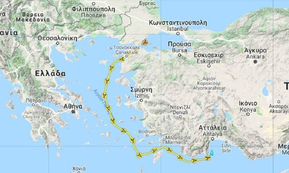 Το «Γιαβούζ» προς το λιμάνι της Αττάλειας