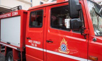 Λαύριο: Φωτιά κοντά στη βιομηχανία όπλων