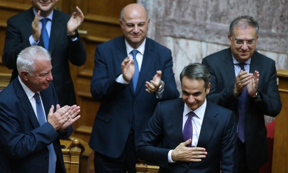 Νέα Δημοκρατία: Ψήφο εμπιστοσύνης με 158 «ναι» έλαβε η κυβέρνηση