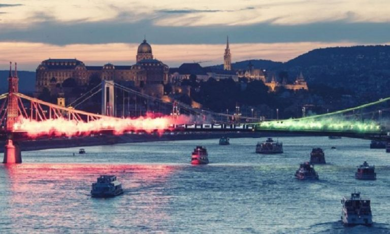 Χόνβεντ: Πανό «UEFA-MAFIA» σε γέφυρα της Βουδαπέστης